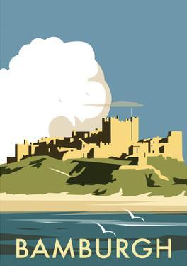 Bamburgh - Dave Thompson Contemporary Travel Print by Dave Thompson