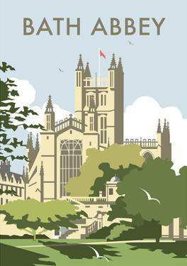 Bath Abbey - Dave Thompson Contemporary Travel Print by Dave Thompson