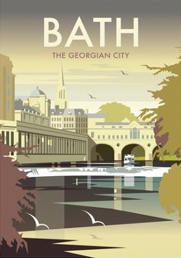 Bath - Dave Thompson Contemporary Travel Print by Dave Thompson