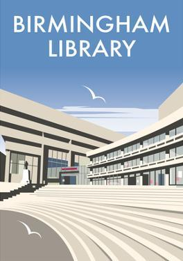Birmingham Library - Dave Thompson Contemporary Travel Print by Dave Thompson