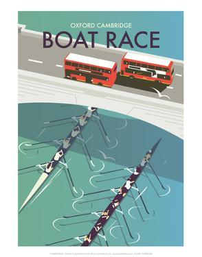 Boat Race - Dave Thompson Contemporary Travel Print by Dave Thompson