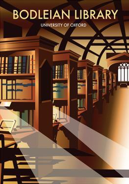Bodelein Library Interior - Dave Thompson Contemporary Travel Print by Dave Thompson