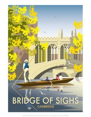 Bridge of Sighs, Cambridge - Dave Thompson Contemporary Travel Print by Dave Thompson