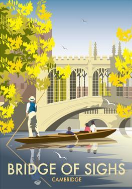 Bridge of Sighs, Cambridge - Dave Thompson Contemporary Travel Print by Dave Thompson