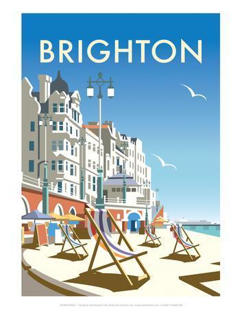 Brighton - Dave Thompson Contemporary Travel Print
