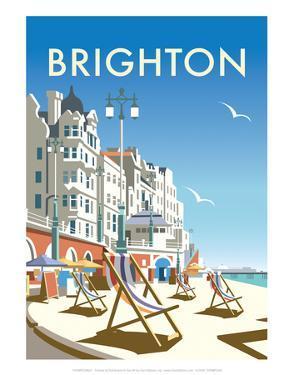 Brighton - Dave Thompson Contemporary Travel Print by Dave Thompson