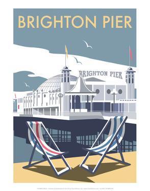 Brighton Pier - Dave Thompson Contemporary Travel Print by Dave Thompson