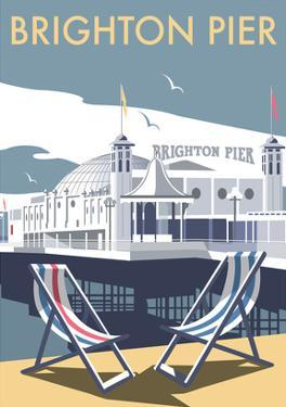 Brighton Pier - Dave Thompson Contemporary Travel Print by Dave Thompson