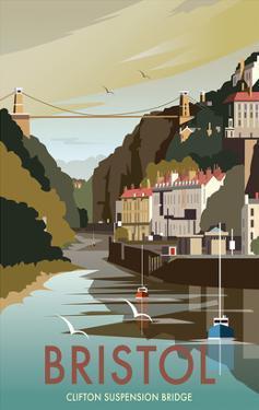 Bristol - Dave Thompson Contemporary Travel Print by Dave Thompson
