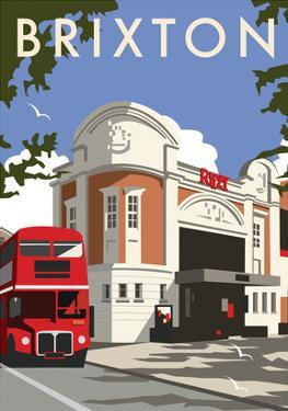 Brixton - Dave Thompson Contemporary Travel Print by Dave Thompson