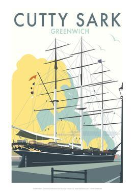 Cutty Sark - Dave Thompson Contemporary Travel Print by Dave Thompson
