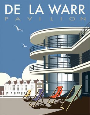 De La Warr Pavilion - Dave Thompson Contemporary Travel Print by Dave Thompson