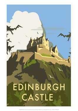 Edinburgh Castle - Dave Thompson Contemporary Travel Print by Dave Thompson