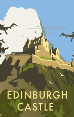 Edinburgh Castle - Dave Thompson Contemporary Travel Print by Dave Thompson