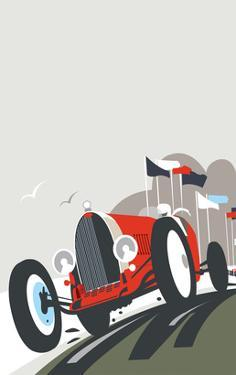 Goodwood Blank - Dave Thompson Contemporary Travel Print by Dave Thompson