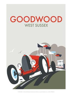 Goodwood - Dave Thompson Contemporary Travel Print by Dave Thompson