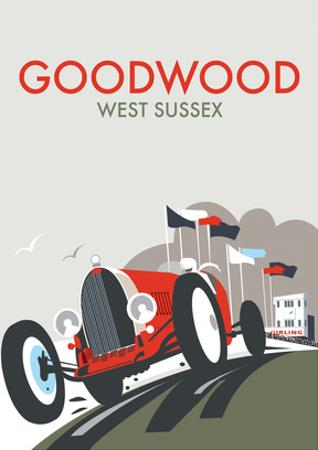 Goodwood - Dave Thompson Contemporary Travel Print