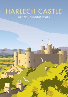 Harlech Castle - Dave Thompson Contemporary Travel Print by Dave Thompson