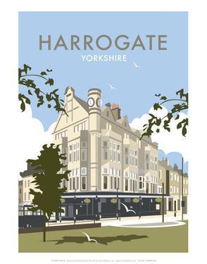 Harrogate - Dave Thompson Contemporary Travel Print by Dave Thompson