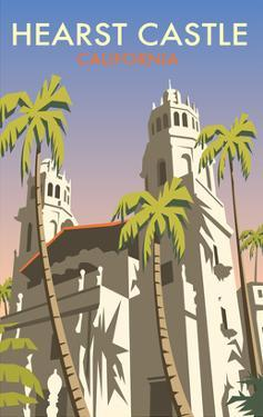 Hearst Castle, California - Dave Thompson Contemporary Travel Print by Dave Thompson