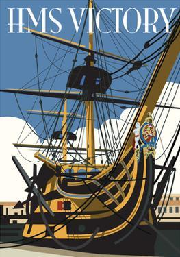 HMS Victory - Dave Thompson Contemporary Travel Print by Dave Thompson