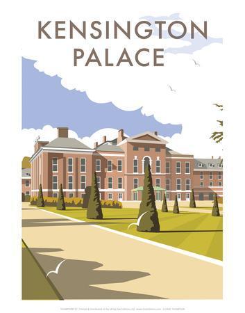 Kensington Palace - Dave Thompson Contemporary Travel Print