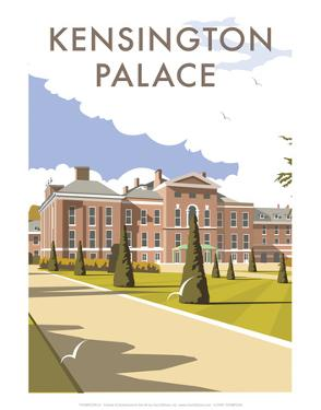 Kensington Palace - Dave Thompson Contemporary Travel Print by Dave Thompson