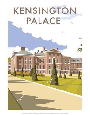 Kensington Palace - Dave Thompson Contemporary Travel Print by Dave Thompson