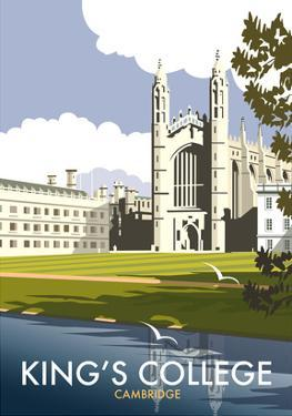 Kings College, Cambridge - Dave Thompson Contemporary Travel Print by Dave Thompson