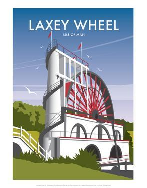 Laxey Wheel - Dave Thompson Contemporary Travel Print by Dave Thompson
