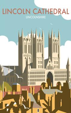 Lincoln Cathedral - Dave Thompson Contemporary Travel Print by Dave Thompson