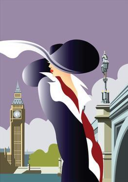 London Blank - Dave Thompson Contemporary Travel Print by Dave Thompson