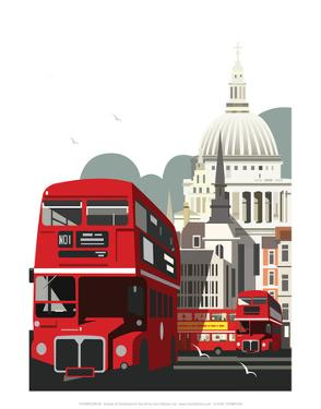 London Routemaster Blank - Dave Thompson Contemporary Travel Print by Dave Thompson