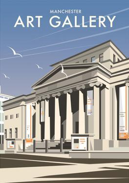 Manchester Art Gallery - Dave Thompson Contemporary Travel Print by Dave Thompson