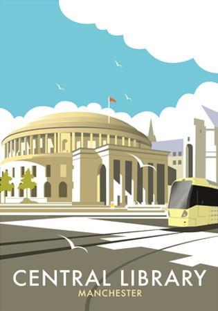 Manchester Central Library - Dave Thompson Contemporary Travel Print by Dave Thompson