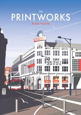 Manchester Printworks - Dave Thompson Contemporary Travel Print by Dave Thompson