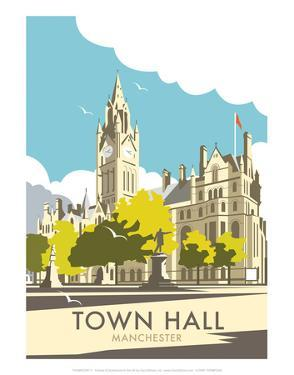 Manchester Town Hall - Dave Thompson Contemporary Travel Print by Dave Thompson
