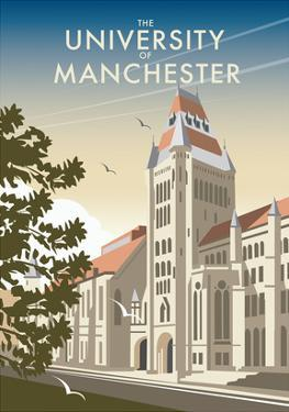 Manchester University - Dave Thompson Contemporary Travel Print by Dave Thompson