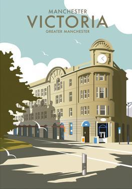 Manchester Victoria - Dave Thompson Contemporary Travel Print by Dave Thompson