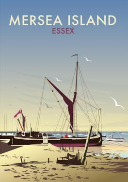 Mersea Island - Dave Thompson Contemporary Travel Print by Dave Thompson