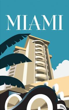 Miami - Dave Thompson Contemporary Travel Print by Dave Thompson
