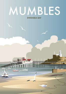 Mumbles - Dave Thompson Contemporary Travel Print by Dave Thompson