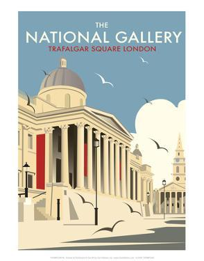 National Gallery - Dave Thompson Contemporary Travel Print by Dave Thompson