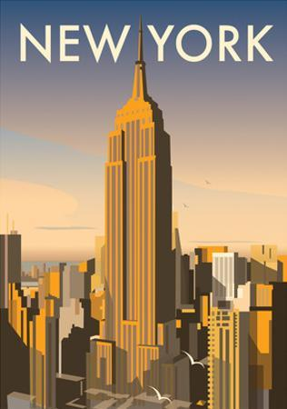 New York - Dave Thompson Contemporary Travel Print by Dave Thompson
