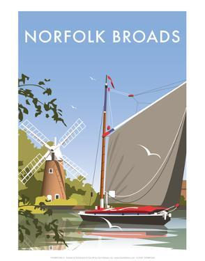 Norfolk Broads - Dave Thompson Contemporary Travel Print by Dave Thompson