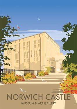 Norwich Castle - Dave Thompson Contemporary Travel Print by Dave Thompson