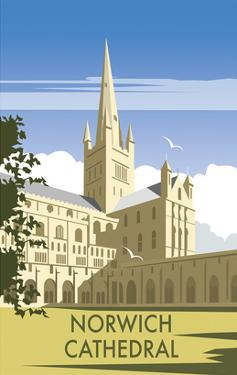 Norwich Cathedral - Dave Thompson Contemporary Travel Print by Dave Thompson