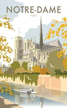 Notre Dame - Dave Thompson Contemporary Travel Print by Dave Thompson