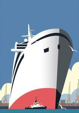 Ocean Cruises Blank - Dave Thompson Contemporary Travel Print by Dave Thompson