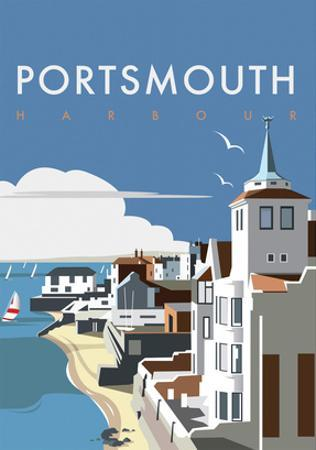 Portsmouth - Dave Thompson Contemporary Travel Print
